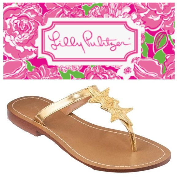 977f954c0f57 Lilly Pulitzer Shoes - Lilly Pulitzer For Target Gold Starfish Sandals 9